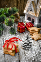 Symbolic Christmas cookies for the holiday and Christmas decorations
