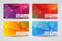 Abstract Beautiful Gift Card Design Set, Vector Illustration. EPS10