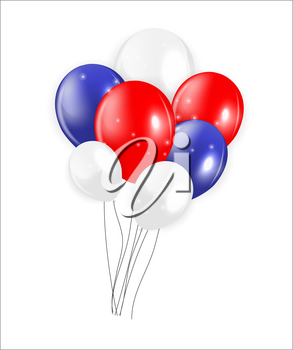 Set of Colored Balloons, Vector Illustration. EPS 10