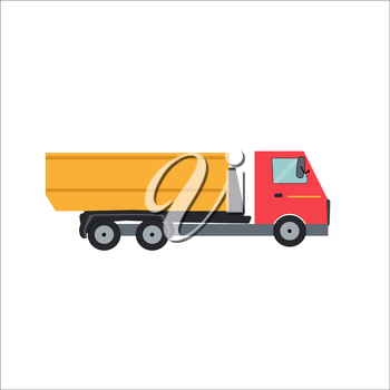Ftat Truck Vector Illustration EPS10