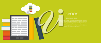 E-Book Vector illustration. Flat computing background. EPS10