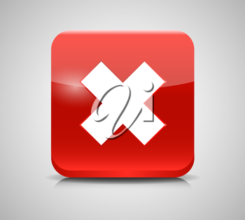 Vector Red  Check Mark Icons. EPS 10