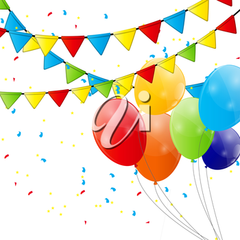 Color Glossy Balloons Background Vector Illustration. EPS10