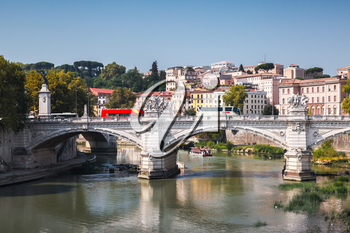 Ponte Vittorio Emanuele II. It is a bridge in Rome constructed to designs of 1886 by the architect Ennio De Rossi