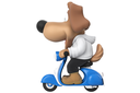 Cartoon happy dog sweet character, side view. 3D rendering