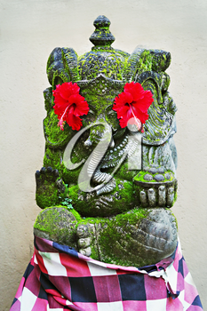 BALI, INDONESIA - FEBRUARY 17: Ornate monster statue at Ulun Danu temple on February, 17, 2011, Bali, Indonesia