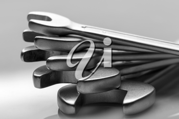 Set of open end wrenches