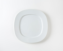 Flat square plate with wide rim