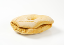 Italian ring-shaped dry biscuit on white background