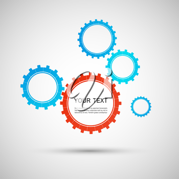 Vector color design concept gears.