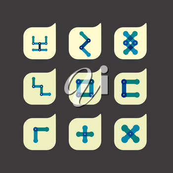 Vector set of beautiful abstract color icons.