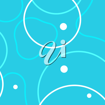 Vector background with abstract circles and patterns.