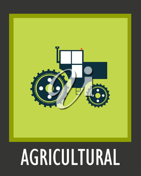 Vector simple icon agriculture tractor eps 10.