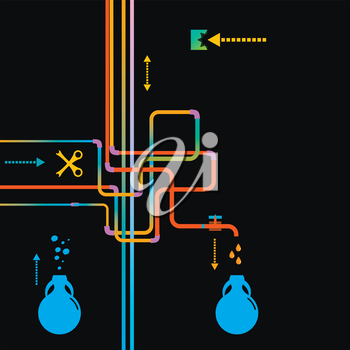 Water Pipe Vector illustration.