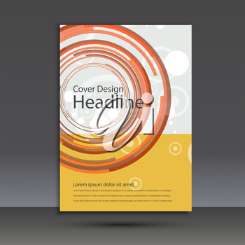 Brochure design template cover. Vector abstract round.