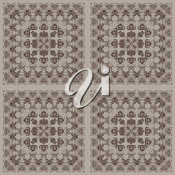 Seamless artistic background, abstract graphic pattern on vintage linen canvas