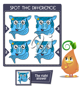 Visual Game for children. Task: Spot the difference