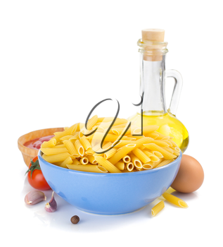 pasta penne isolated on white background