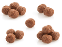 cereal chocolate balls isolated on white background
