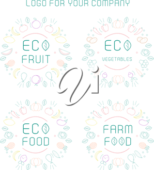 Royalty Free Clipart Image of Eco Food Logos