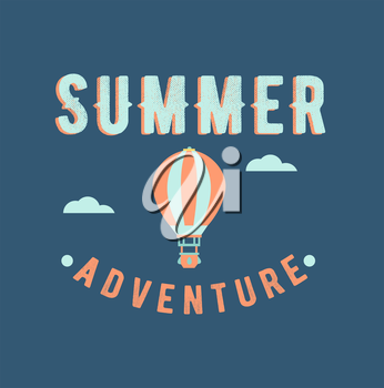Royalty Free Clipart Image of a Summer Adventure Background