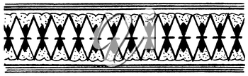 Royalty Free Clipart Image of a Diamond Pattern Border