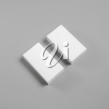 Blank business cards on paper background. Mockup for branding identity.