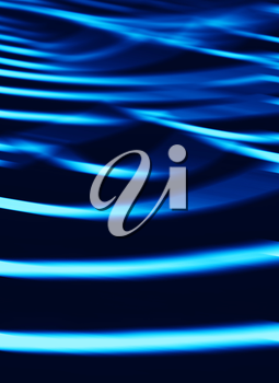 Vertical vibrant blue ocean waves blur abstraction background backdrop