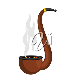 Pipe and smoke. Couples smoke from brier. Symbol for ancient smoker