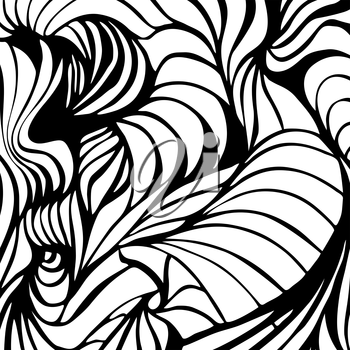 Abstract black and white wavy stripes vector background. Eps8