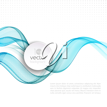 Vector illustration Abstract colorful transparent wave. EPS 10