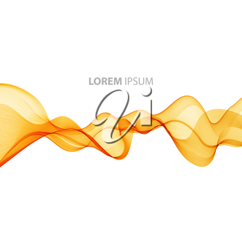 Vector Abstract orange curved lines background. Template brochure design