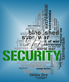 Security Word Indicating Protected Words And Wordclouds