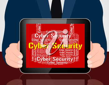 Cyber Security Showing World Wide Web And Web Site