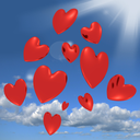 Hearts Falling From The Sky Shows Love And Romance