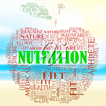 Nutrition Apple Words Means Food Nutriments And Nourishment