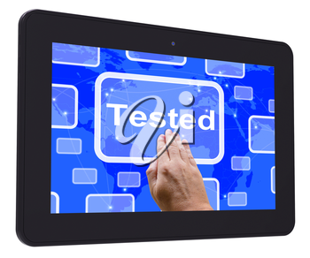 Tested Tablet Touch Screen Showing Product Quality Checked Ok