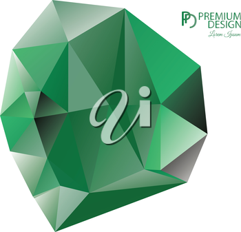 Polygonal Abstract Background Design and PD Logo, EPS 10 supported.