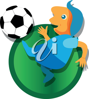 Soccer with Ball illustration. EPS 8 supported.