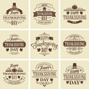 Typographic Thanksgiving Design Set. Vector illustration EPS 10