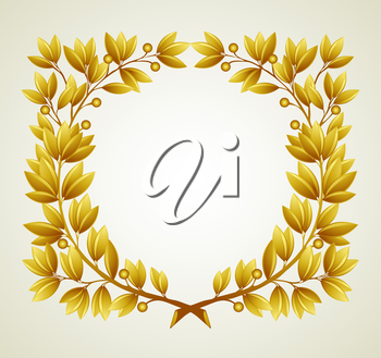 Laurel branch wreath. Vector illustration  EPS 10