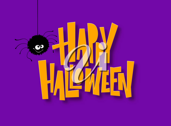 Happy Halloween lettering. Holiday calligraphy for banner, poster, greeting card, party invitation. Vector illustration EPS10