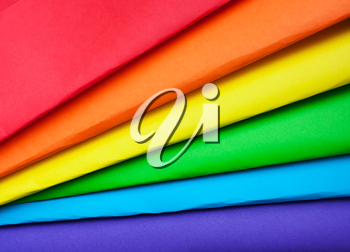 The colors of the rainbow, the symbol of LGBT. Multicolored paper
