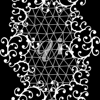 Seamless lace pattern with floral ornaments.