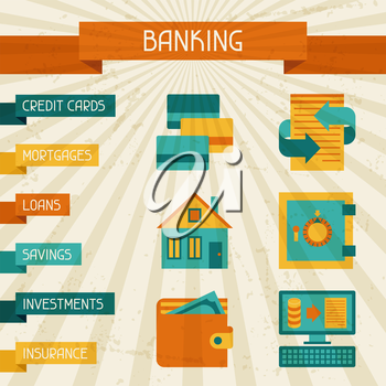Conceptual banking and business background.