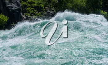 Class six rapids in river by White Water Walk near whirlpool rapids at Niagara Falls
