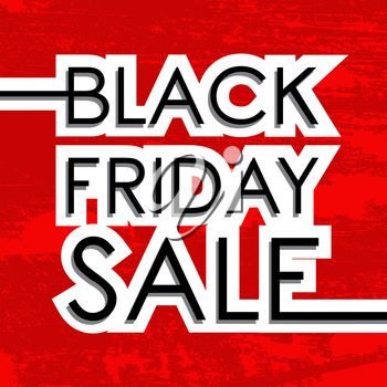 Black Friday Sale design poster. Vector illustration.