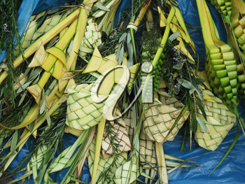 Decorated palm typical on Palm Sunday, Cusco Peru
