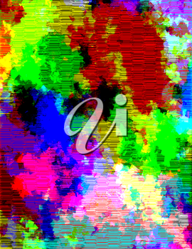 Multihued Vivid Background Colorful Stains and Lines