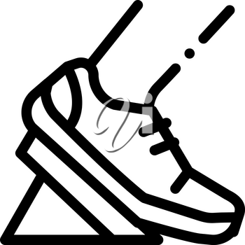 Pads Running from Low Start Icon Vector. Outline Pads Running from Low Start Sign. Isolated Contour Symbol Illustration